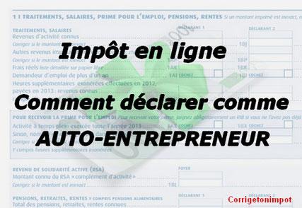 Comment déclarer les revenus d'un Auto-entrepreneur ?